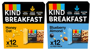 Kind Breakfast Bars Blueberry Almond Honey Oat 12 or 24 x 50g Packs OUT OF DATE