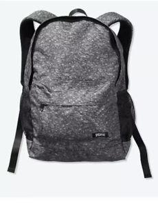 NEW Victoria's Secret PINK Classic Marl Gray Lightweight Backpack VS Book Bag