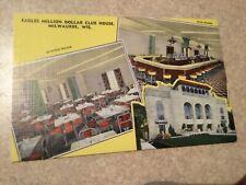 Milwaukee WI Million Dollar Eagles Clubhouse interior dining postcard Wisconsin