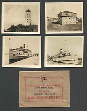 """Ca 1915 RPPC CANADA STEAMSHIP LINES 10 REAL PHOTOS ABOUT 3"""" X 3.65"""" SEE INFO"""
