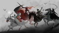 Dark Four Horsemen of the Apocalypse Silk Poster 24 X 14 inch