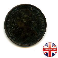 A British Bronze 1874 H VICTORIA FARTHING Coin (Heaton)          (Ref:1874_35/6)