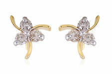 Stunning 0.30 Cts Natural Diamonds Stud Earrings In Solid Certified 14Karat Gold