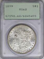 1899-P PCGS Silver Morgan Dollar MS60 OGH Rattler Slab Holder Semi-Key Date