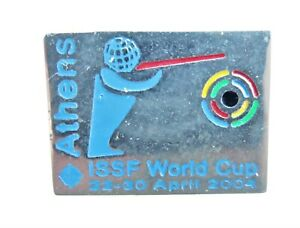 ATHENS 2004 ISSF WORLD CUP SHOOTING LAPEL  BADGE