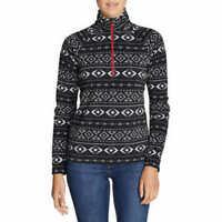 Eddie Bauer Women's Quest Fleece 1/4 Zip Soft Pullover