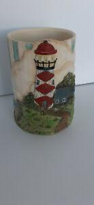 Chesapeake Point Lighthouse Tumbler Nautical Betterley / Applejack Vtg A176