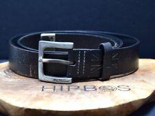 Ben Sherman Vintage Mens Leather Belt Black Brown Size 38