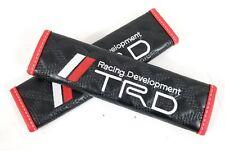 2PCS TRD Black Leather Auto Car Seat Belt Covers Shoulder Pads Cushion