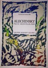 Alechinsky Pierre affiche originale lithographie Art Abstrait Fiac Cobra
