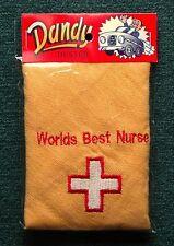 """L@@K! """"Worlds Best NURSE"""" Car Duster - Novel Gift / Birthday Gift / Gift"""