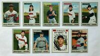 CLEVELAND INDIANS 2019 Topps Heritage BASE TEAM SET (9 Cards) Ramirez