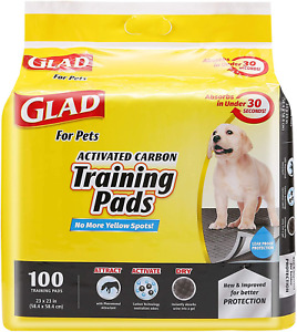 Glad For Pets Black Charcoal Puppy Pads   Puppy Potty Training Pads That Absorb