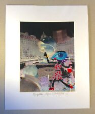 """Gerald Tracy:""""Suzette Stylin in Battery Park NYC"""" '03~Framed Mixed Media~ 2/25"""