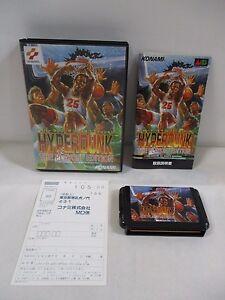 Mega-Drive Genesis -- Hyper Dunk The Playoff Edition -- Box. JAPAN Game. 14017