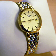 ROTARY WATCH Ladies Gold and Silver Champagne Dial Bracelet LB03497/03 (RL 9)