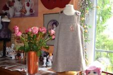 robe cyrillus 4 ans doublee marron chine poche avec le reine pour rentree