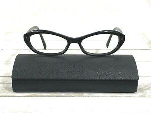 Prada VPR 11O Womens Horn Rim Rx Eyeglass Frames Black 54▯16-135