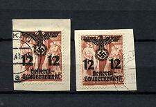 Gen. Gouvernement Nr. 33I und 33II Briefstücke    (D1404)