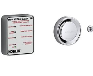 KOHLER K-5548-K1-CP DTV+ Steam Adapter Kit, Polished Chrome