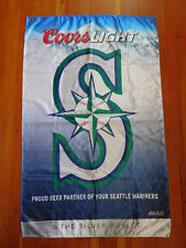 Seattle Mariners Coors Light Silver Bullet Banner Pennant Sign Flag