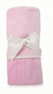 Mud Pie Take Me Home Baby Girl Infant Soft Pink Velour Blanket 2102126