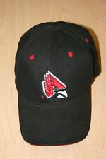 Ball State University Cardinals BSU Adjustable Black Baseball Cap Hat Signatures