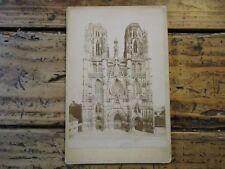 LORRAINE - PHOTO ALBUMINE CATHEDRALE DE TOUL MORQUIN MEURTHE ET MOSELLE 1900