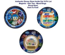 Disney Store INSIDE OUT LOT Hair Ties Magnets Mood Rings 16 Pcs Stocking Stuffer