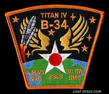 TITAN IV-B-34 NRO PAYLOAD VAFB 30 SW 2SLS SMC USAF DOD SATELLITE LAUNCH PATCH