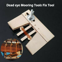 Wooden Dead Eyes Mooring Tools Fix Tool for Wood Ship Model Kit Gift