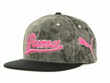Puma Tie Dye Gray & Pink Adjustable Snapback Flat Bill Cap Hat