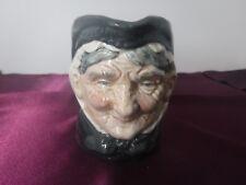 """Vintage Royal Doulton Granny Toby Character Jug Mug Creamer D6384 3.25"""" Tall"""