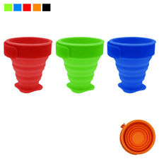 3pc Collapsible Folding Cup Telescopic Drinking Silicone Portable Travel Outdoor