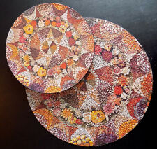 Vintage Seashell Mosaic Springbok Circular Jigsaw Puzzle 1973 Round Complete