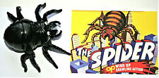 Wind-Up Walking Black Spider Hong Kong Toy New NOS 1970s + Box Print Needs Oil?