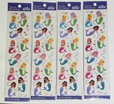 112 Mermaid Girl Scrapbook/Journal Stickers Lot of 4 New Sea Shell Sticko