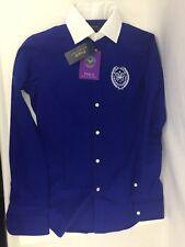 Ralph Lauren Harper WIMBLEDON Championship Señoras Camisa Azul Size UK 10 Nuevo