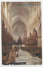 Vintage Colour Postcard, Chester Cathedral, Choir W - Photochrom Celesque Series