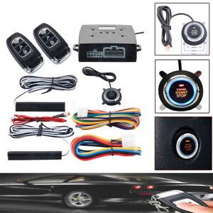 Car PKE Alarm Passive Key-less Entry Push Button Remote Engine Start/Stop Trim