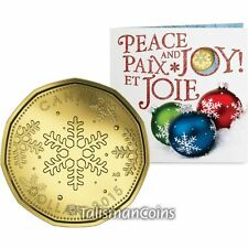 Canada 2015 Holiday 5 Coin Mint Uncirculated Set w $1 Snowflakes Loonie Dollar