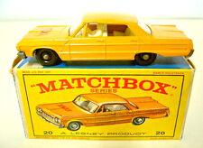 "Matchbox No.20C Chevy Taxi orange body white interior htf ""Taxi"" Label"