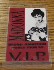 Vintage Genuine Madonna Blond Ambition Tour 1990 T-Bird Laminated Backstage Pass