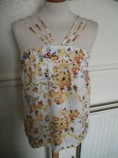 Laura Lees for Topshop Fab Cotton top Skulls multiple straps Fab yellow top Med