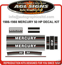 1986 1987 1988 MERCURY 50 HP Outboards decal set  , reproduction