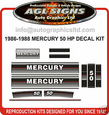 1986 1987 1988 MERCURY 50 HP OUTBOARD DECAL KIT , reproduction