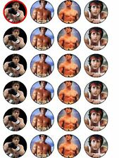 24 X ROCKY BALBOA PAPER BIRTHDAY CAKE TOPPERS