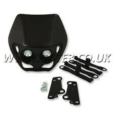 Apico Alien Style Black Universal Twin Headlamp Enduro Supermoto Headlight