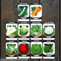 Vintage Original 10 VEGETABLE SEED PACKS CARD SEED CO (SET D) 1920's nos unused