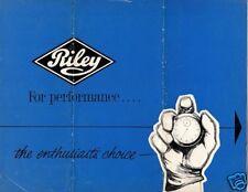 Riley 1961-62 UK Market Foldout Sales Brochure Elf 1.5 4/72
